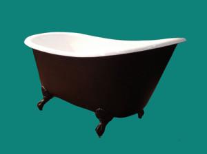 Drottningholm 155 cm-badkar med tassar