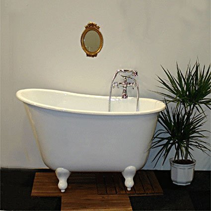 Små badkar med tassar