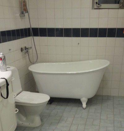 badkar med tassar rea